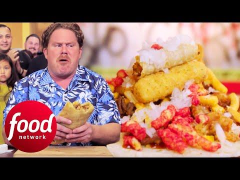 Casey Webb Goes Head-To-Head With A 17lbs Zombie Burrito   Man v Food
