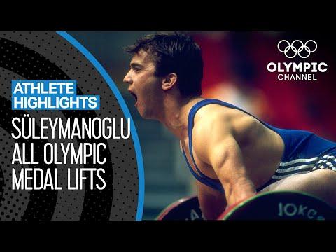 All Naim Süleymanoğlu's Olympic Medal Lifts | Athlete Highlights