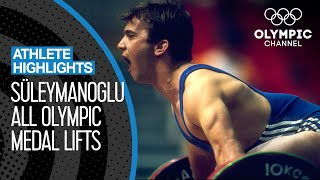 All Naim Süleymanoğlu 🇹🇷 Olympic Medal Lifts | Athlete Highlights
