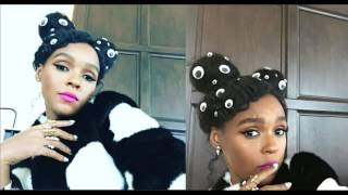 #JanelleMonae new hairstyle! #ALLSEEINGEYE on her #goodhair! Is hot singer saluting the ILLUMINATI?
