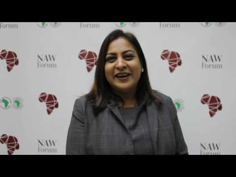 Razia Khan at the New African Woman Forum