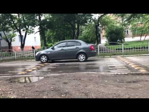 Переезд лежачих полицейских на скорости 40 км/ч(замедленное видео)