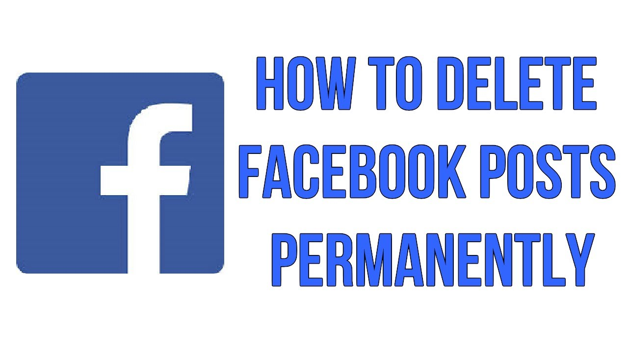 How to delete facebook posts permanently youtube ccuart Image collections