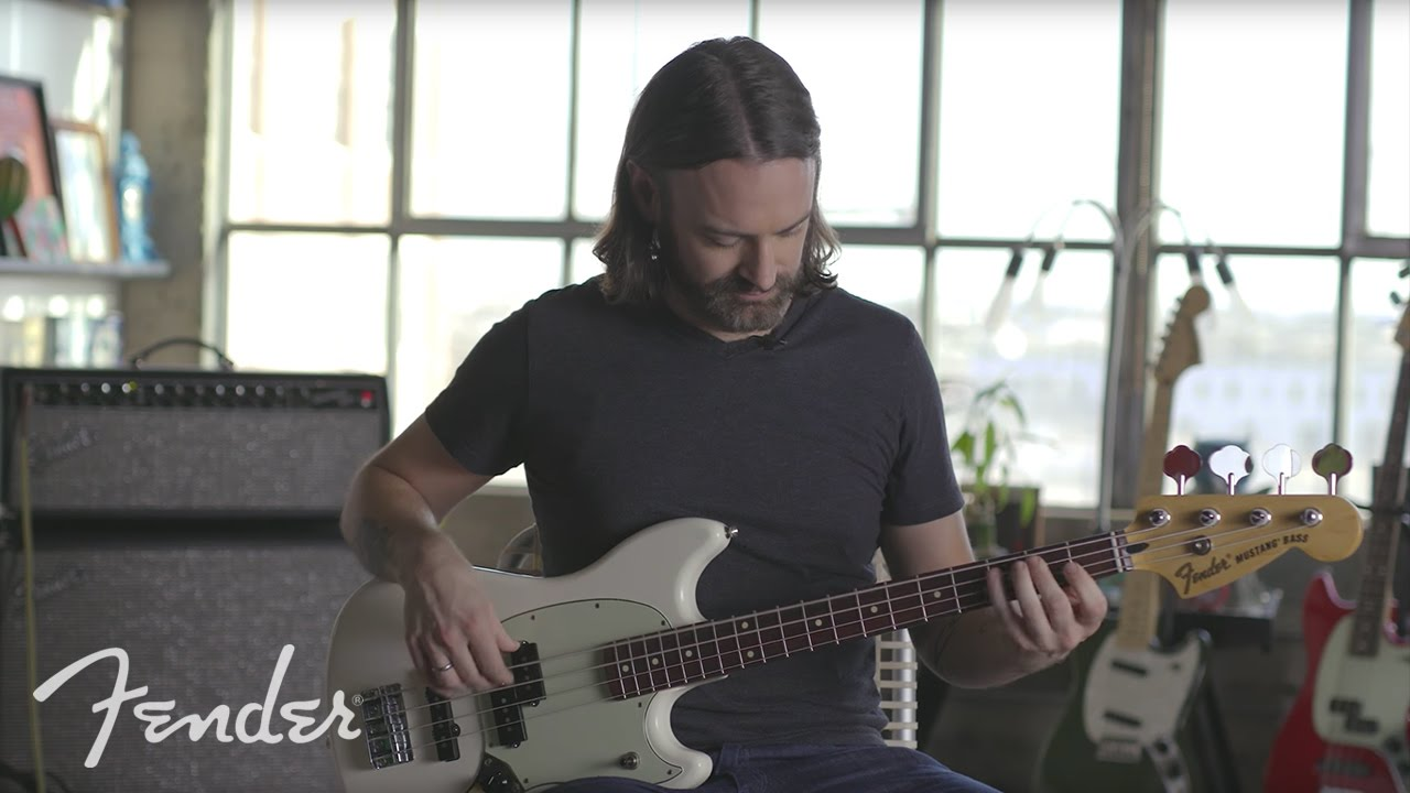 pete griffin demos the new offset mustang bass | fender - youtube