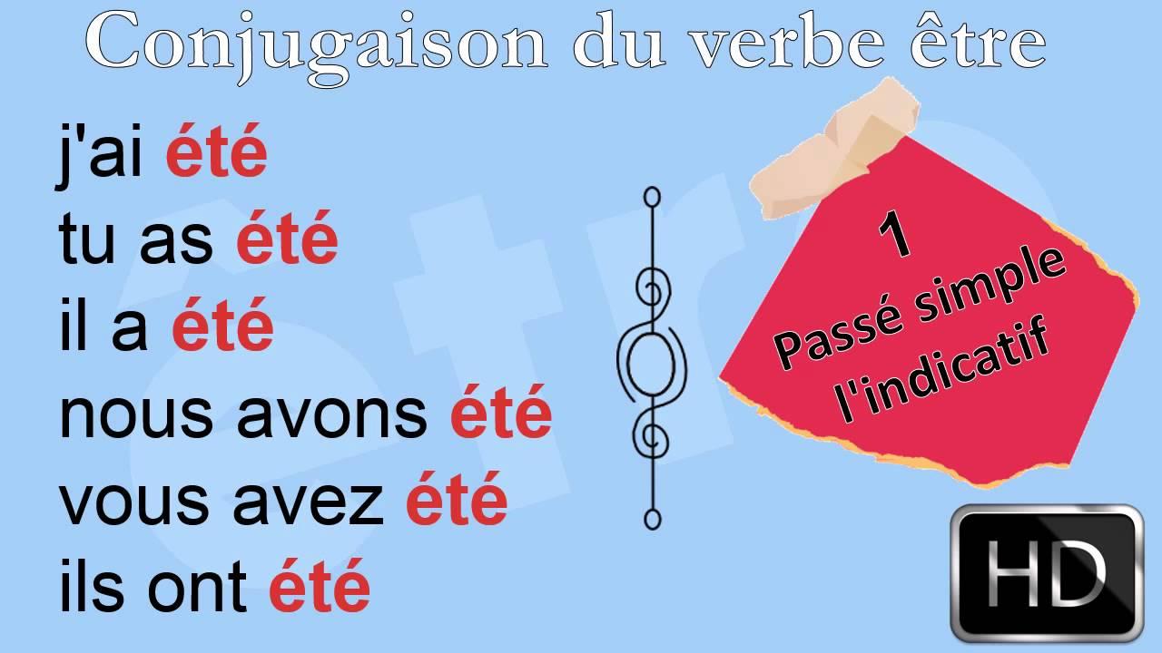 La Conjugaison Le Verbe Etre Passe Compose Hd Youtube