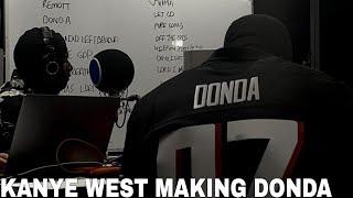 Kanye West In Studio Making Album DONDA