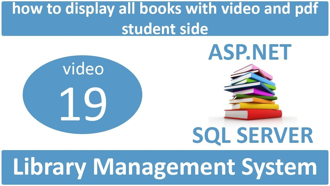 how to make library management system in asp net