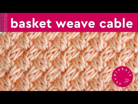 BASKET WEAVE DIAGONAL BRAIDED Knit Stitch Pattern
