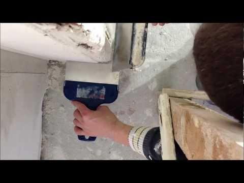 видео: Штукатурка наружного угла колонны