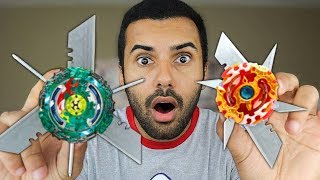 MOST DANGEROUS TOY OF ALL TIME!! (EXTREME BEYBLADES DIY!) BURST EDITION!!
