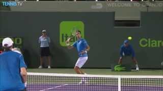 Novak Djokovic Hot Shot Miami Open Semis 2015 vs. Isner