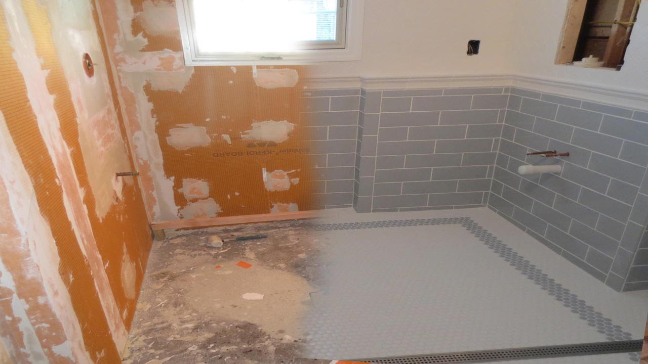 Youtube How To Install Bathroom Tile Floor Wood Floors