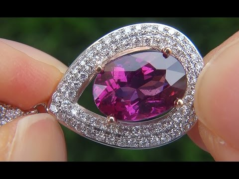 Very rare natural color change garnet diamond 14k gold pendant very rare natural color change garnet diamond 14k gold pendant necklace gia certified a141584 mozeypictures Choice Image
