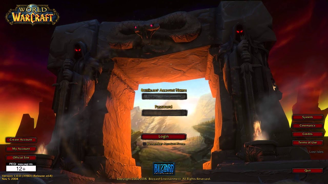 vanilla world of warcraft login screen remade in unity 5 youtube
