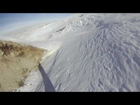 Off track snowboarding @Mount Erciyes