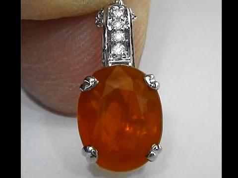 Estate sale sexy brazilian fire opal pendant and 14kt white gold estate sale sexy brazilian fire opal pendant and 14kt white gold chain certified jewelry aloadofball Gallery