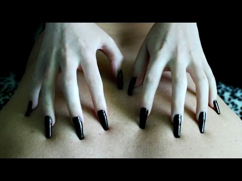 Pointed nails back scratching 8