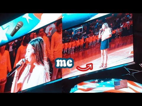 NATIONAL ANTHEM SINGER AT UNIVERSITY OF TEXAS : DAY IN THE LIFE