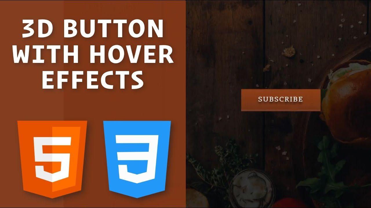 3D Button with HTML and CSS / How to create a 3D button with CSS Transforms and Transitions