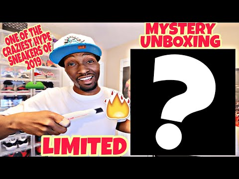 UNBOXING ONE OF THE CRAZIEST HYPE SNEAKERS OF 2019! MYSTERY UNBOXING