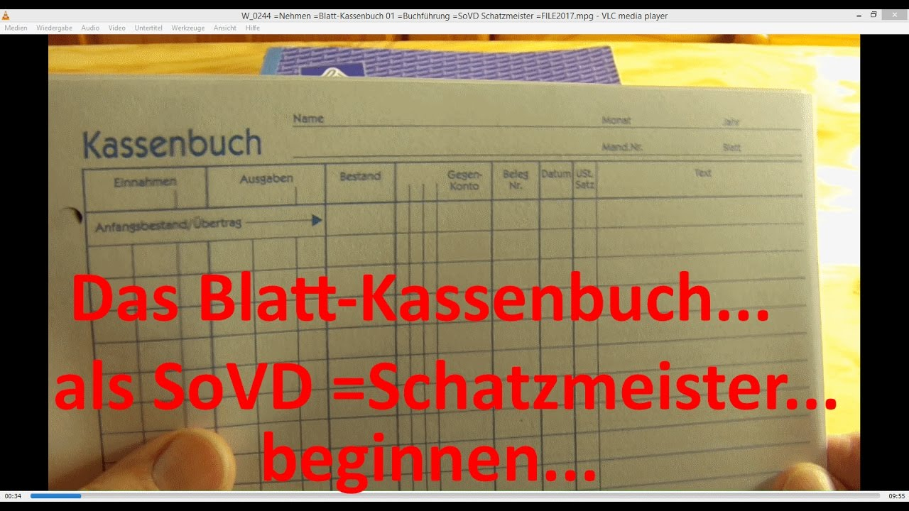 w_0244 blatt kassenbuch 01 buchfhrung sovd schatzmeister - Kassenbuch Fuhren Beispiel