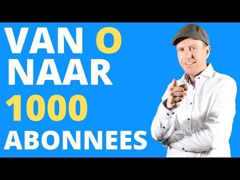 👉HOE KRIJG JE 1000 ABONNEES OP YOUTUBE VAN 0 naar 1000 ABONNEES – 10 TIPS VOOR MEER SUBS