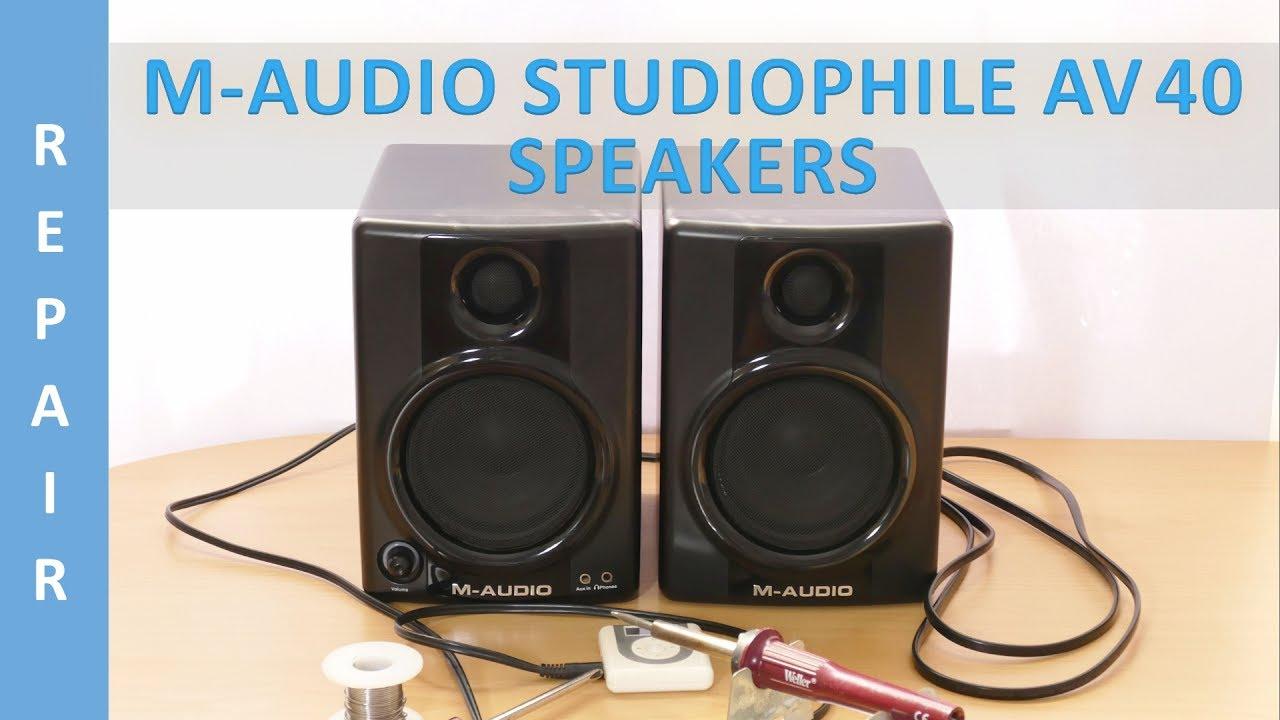 M Audio Bx8a Wiring Diagram Monitors Speakers Bx5a Circuit Repair Of Studiophile Av 40 Youtube On