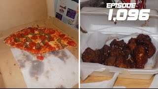 HAVING PIZZA AND BBQ WINGS!!! - December 15,2016 (Day 1,096)