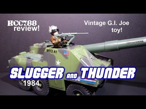 HCC788 - 1984 SLUGGER and THUNDER - Self-Propelled Cannon - Vintage G.I. Joe toy review!