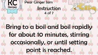 Pear Ginger Jam - Kitchen Cat