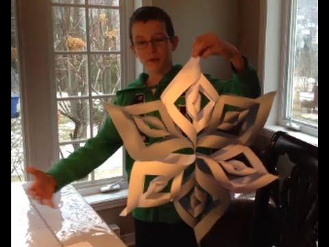 comment faire un flocon de neige en papier pour nöel - youtube