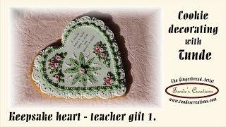 Gingerbread Heart Teacher Gift - Keepsake Cookie 1