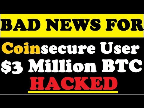Bad News For Coinsecure User $3 Million BTC Hacked