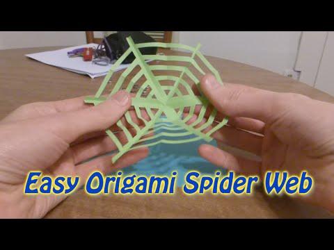 Easy Origami Spider Web