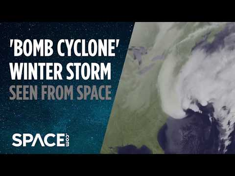 'Bomb Cyclone' Winter Storm Seen from Space