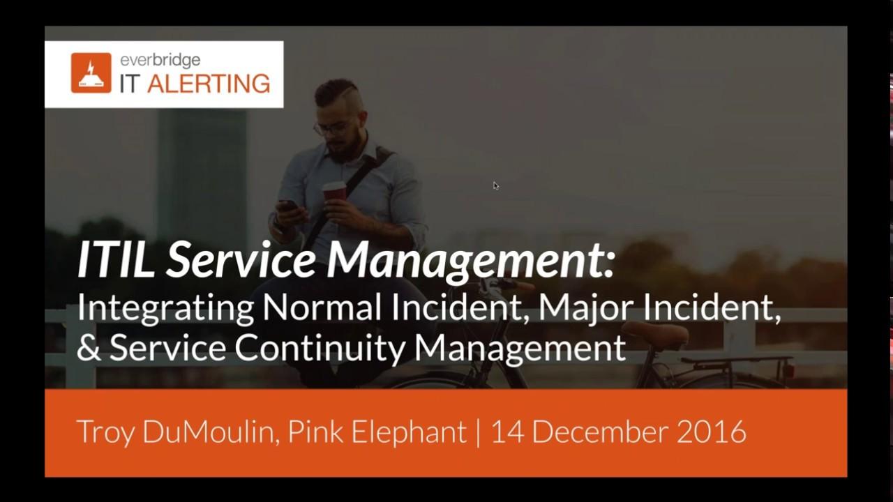 Itil Service Mgmt Wpink Elephant Integrating Normal Incident