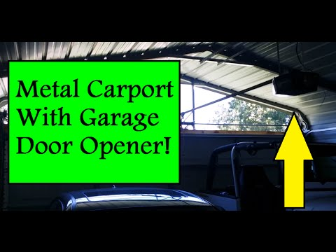 Part 5 How To Enclose A Metal Carport Automatic Garage Door Installation