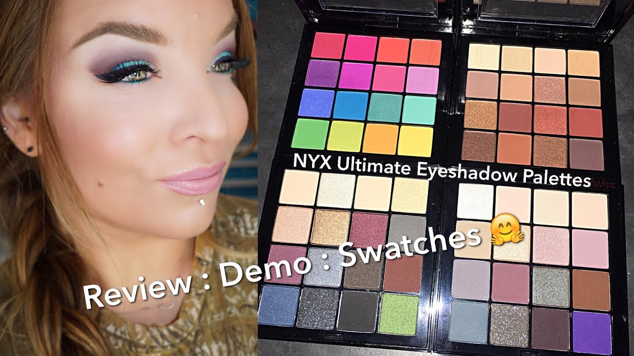 nyx ultimate eyeshadow palettes review demo swatches. Black Bedroom Furniture Sets. Home Design Ideas