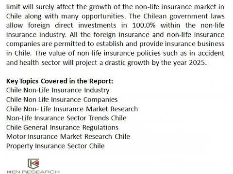 Chile General Insurance Regulations | Health Insurance Demand Chile | Ken Research
