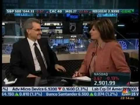 Prince Alwaleed Bin Talal Interview with Maria Bartiromo on CNBC .Closing Bell-Part1/2