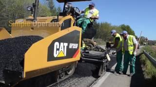 Video still for AP300F and AP355F Asphalt Pavers