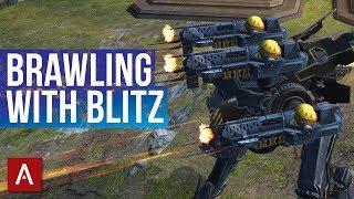 BRAWLING WITH NEW BLITZ / Champion League Bots / War Robots Gameplay