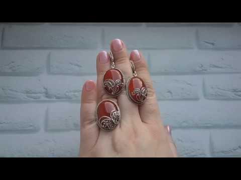 ШИКАРНОЕ серебро РУЧНОЙ работы с НАТУРАЛЬНЫМИ камнями!
