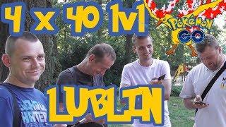 4 graczy 40 lvl vs. Moltres Pokemon GO Lublin