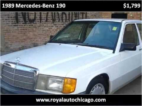 1989 mercedes benz 190 used cars chicago il youtube for Used mercedes benz chicago