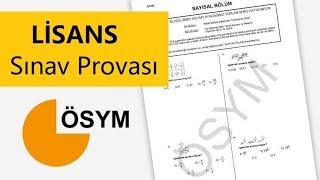 KPSS LİSANS SINAV PROVASI 1