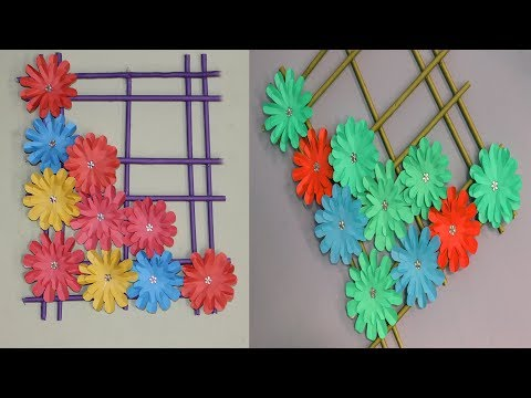Paper wallmate - Paper Flower Wall Hanging - DIY Hanging Flower - Wall Decoration ideas