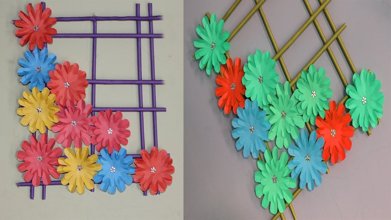 Paper Wallmate Paper Flower Wall Hanging Diy Hanging Flower Wall Decoration Ideas
