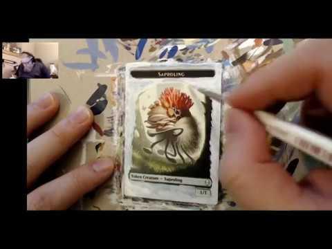 MTG Altered Art (time-lapse) - Dominaria Saproling Token
