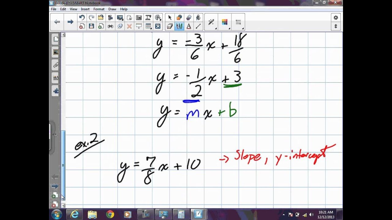 Linear Equations In Standard Form Grade 9 Academic Lesson